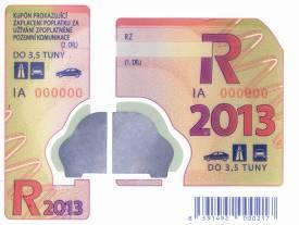 Cena dálničních známek – Česká republika