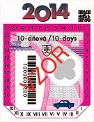 Desetidenní dálniční nálepka Slovensko 2014