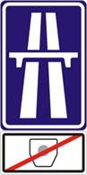 Označení úseku dálnice bez povinnosti platit poplatek za užívání