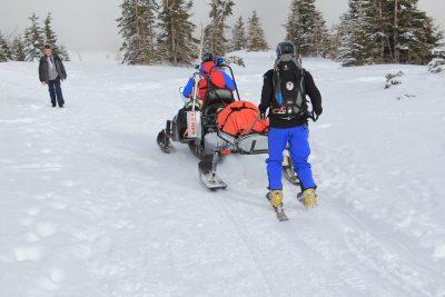 nehoda na lyžích